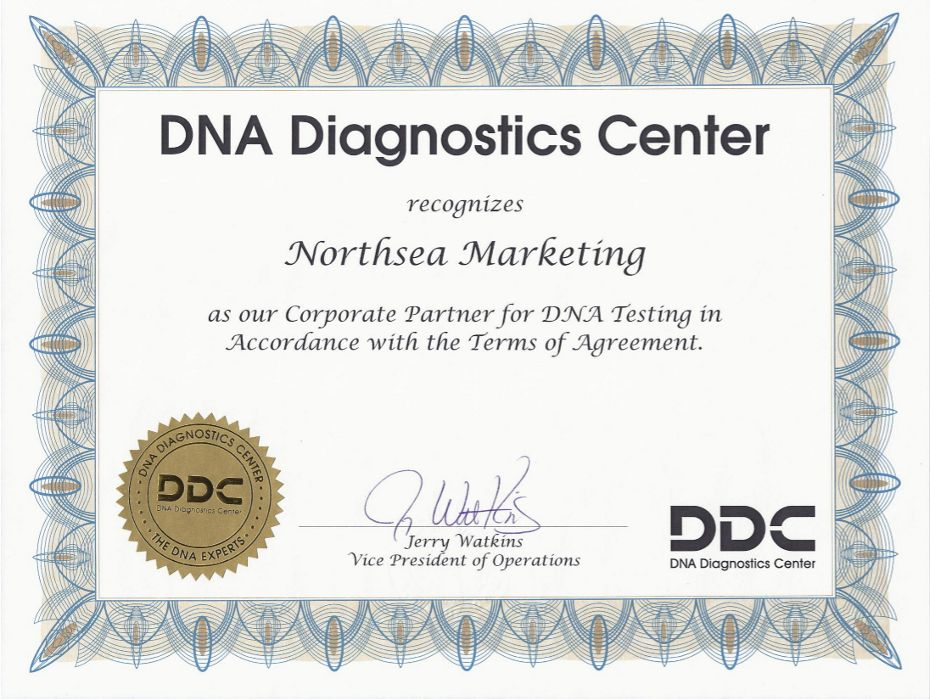 DDC Corporate Partner Certificate.